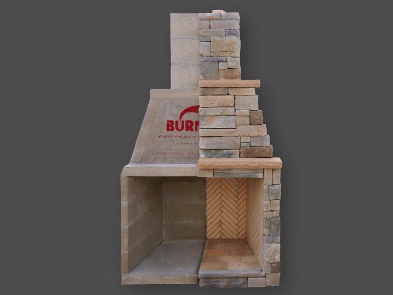 Fireplace Systems Outdoor Masonry  Brick Fireplaces Modular Fireplace Burntech  818564