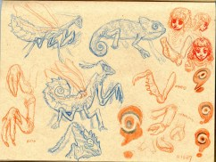 Mantis Knight Sketch 4