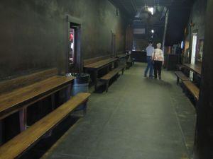 Original dining hall at Smitty's BBQ, Lockhart, Texas.
