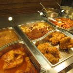 Main dishes at Highland Park Cafeteria
