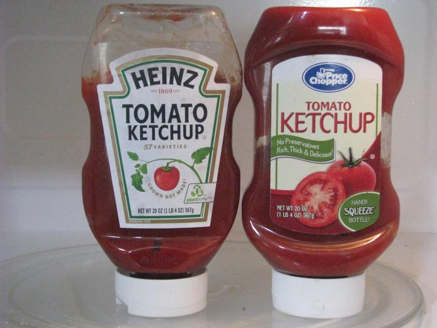 Ketchup Comparison Heinz vs PC