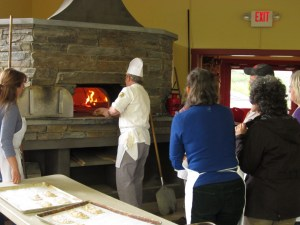prepping wood fired oven