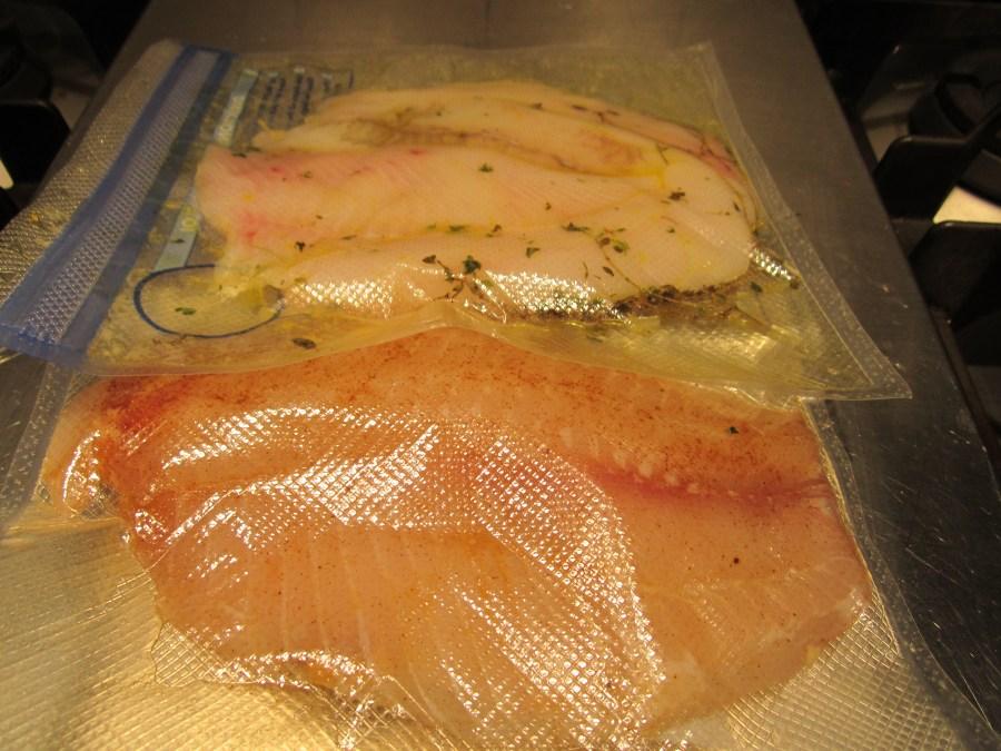 Sous Vide fish prep