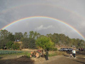 Double rainbow at Terra Firma Farm
