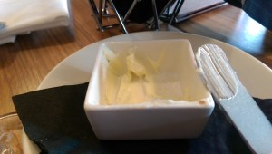 Empty butter dish at 15 Church
