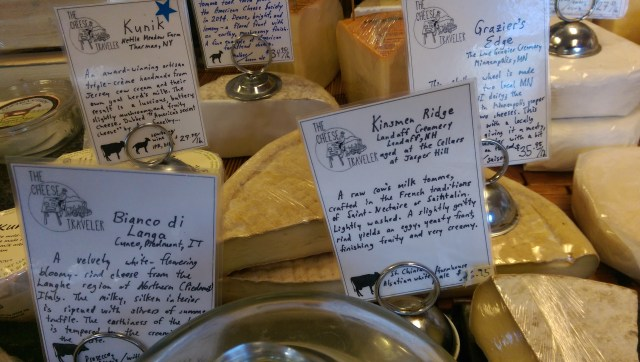 Labels at Cheese Traveler