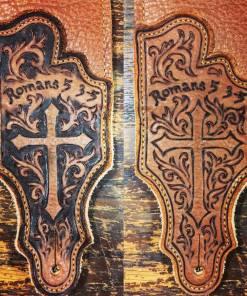 BurnWizard cross custom personalized guitar strap Romans