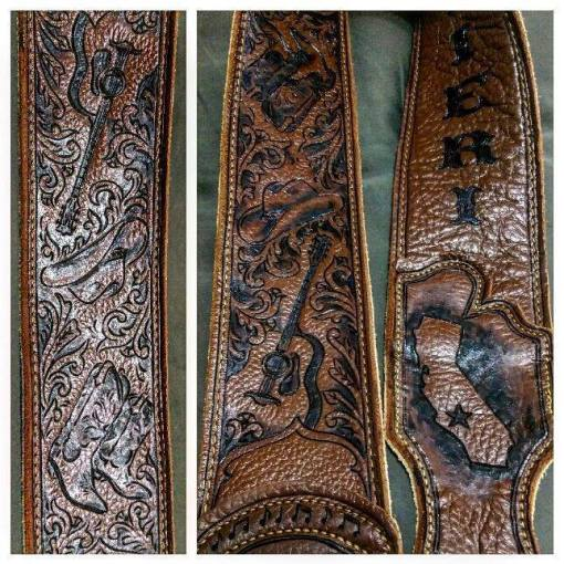 burnwizard_custom_leather_guitar_strap_california_guitar_cowboy_hat