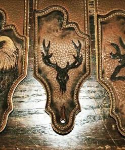 burnwizard_leather_bald_eagle_deer_skull_buck_guitar_strap