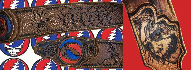 BurnWIzard fan art joker grateful dead guitar strap
