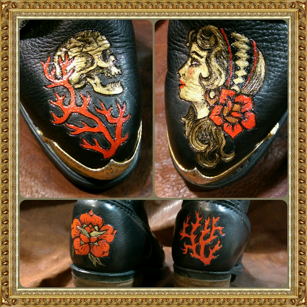 skull-rose-coral-witch-black-leather-boots-burnwizard