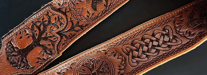 Burnwizard celtic guitar strap