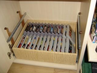 rails pour tiroirs