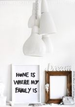 Bodie and Fou - Home is where my familie is print