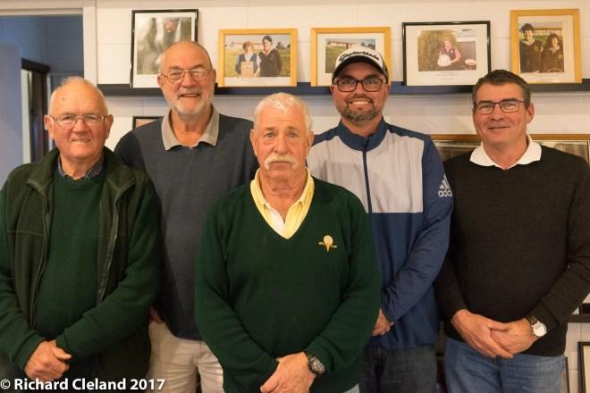 L to R: Dick Cleland, Eddie Van keulen, David Robertson, Matthew Opperman, David Webster, absent Neil Webster.