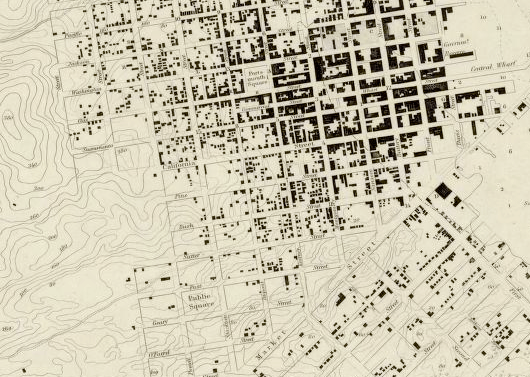 1853 SF Coast Survey Map