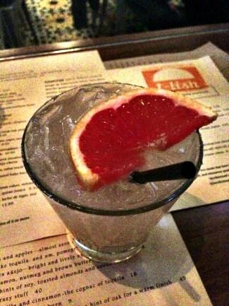 Thursday night's house cocktail :: grapefruit paloma