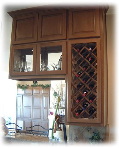 wine rack island kitchen stainless steel undermount sinks options - burrows cabinets
