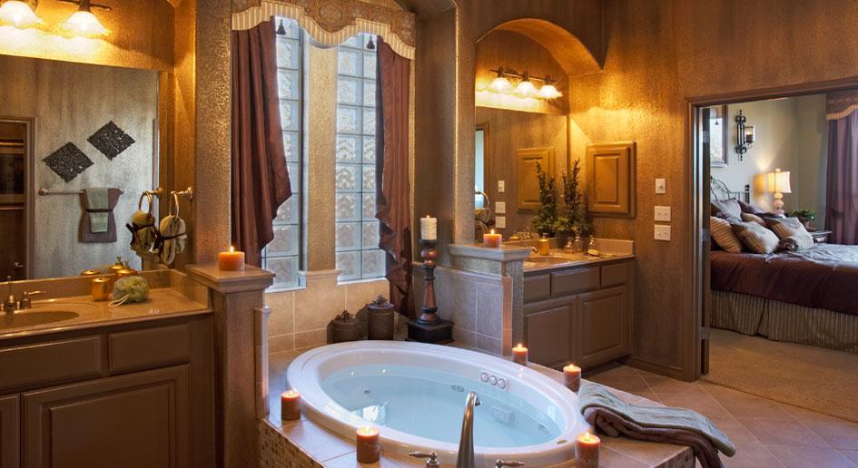 Bathroom  Burrows Cabinets  central Texas builderdirect