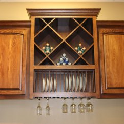 Wooden Kitchen Plate Rack Cabinet Lights Fixtures Cutlery And Cookie Sheet Dividers Burrows Cabinets