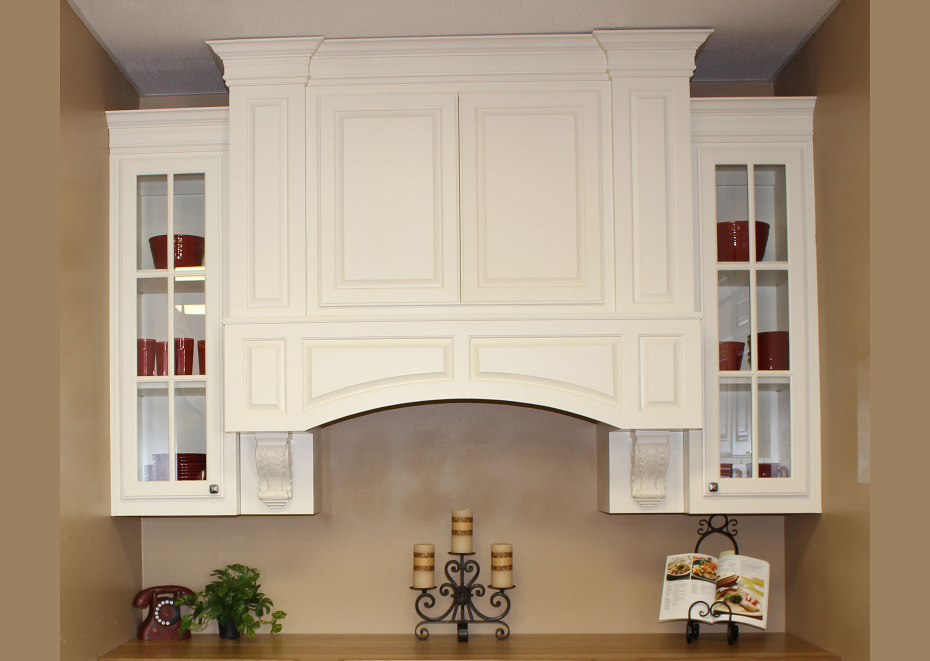 kitchen cabinets knotty alder tables and chairs sets custom vent hoods - burrows central texas ...