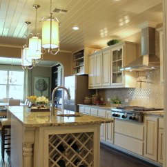 Wine Rack Island Kitchen Planning Tools Gallery  Burrows Cabinets Central Texas Builder Direct
