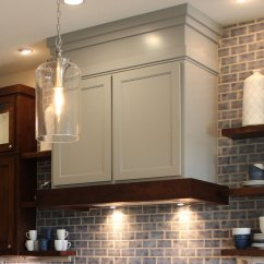 Hickory Shaker Style Kitchen Cabinets 3 Basin Sink Vent Hood - Craftsman Burrows Central Texas ...