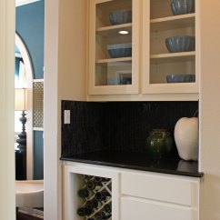 Kitchen Cabinet Crown Molding And Bathroom Showrooms Butler's Pantry With White Cabinets, Glass Panel Doors ...