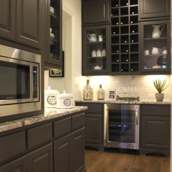 Upper Kitchen Cabinets With Glass Doors Gerber Faucet Large Pantry - Wine Storage And