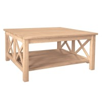 [36 Inch] Hampton Square Coffee Table - Burr's Unfinished ...