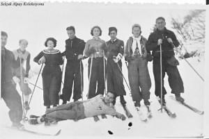 Yerde uzanan Rauf Alpay,sağdan birinci Tayyar Akkeskin,ikinci H.Muzaffer Kalkan,dördüncü Şahsine Altıok 28.12.1935