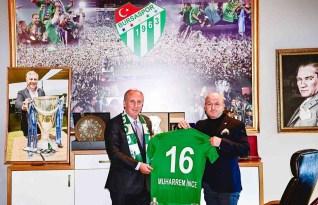 Muharrem İnce, Bursaspor'u ziyaret etti