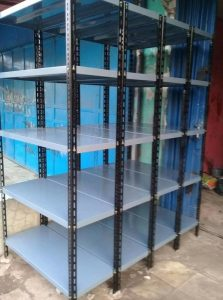 Rak Gudang Besi Siku Lubang di Jl. Cik Di Tiro