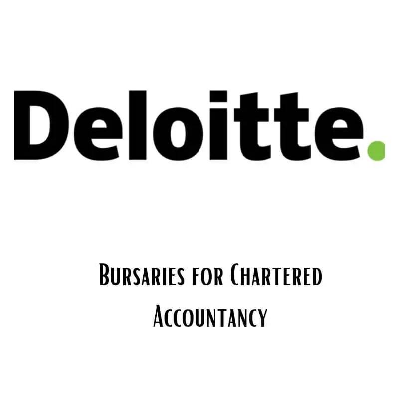 Deloitte Bursary for Chartered Accountancy 2020-2021