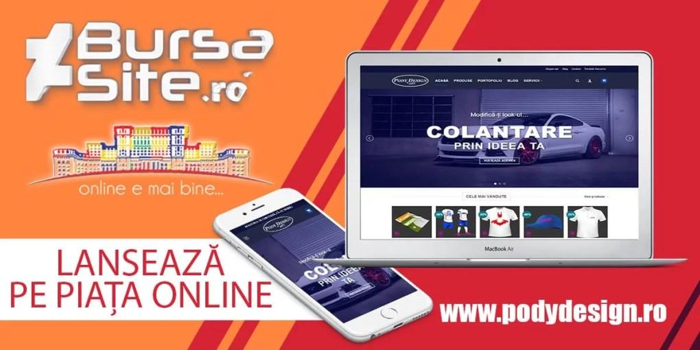 Lansare Web Site Pody Design lansare podydesign
