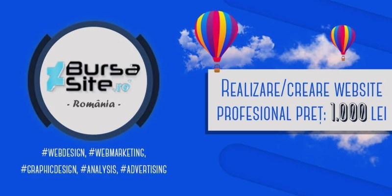 realizare/creare website profesional,website profesional,website,profesioanal,realizare,creare,webdesign,bursasite românia