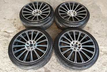 Jual Velg Second Kobe Ring 17×7,5/9 pcd 4×100/114 Et 42/35 + Ban