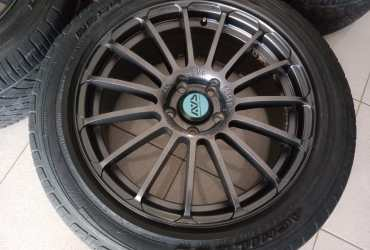 Velg racing murah type forget ring18x8 pcd5x114,3 et45 grey velg onli yah ban pemanis