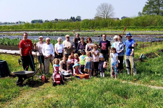 Burscough Community Farm volunteers last Thursday.