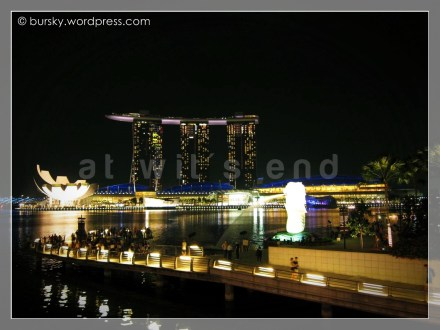 Marina Bay and Merlion