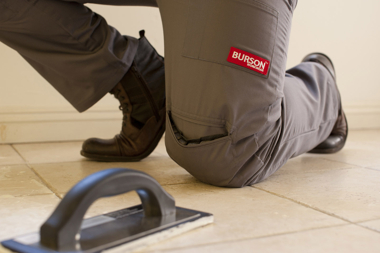 Burson Work Wear  Work Pants with Builtin Knee Pads
