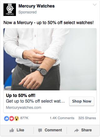 Facebook Watch Ad Example