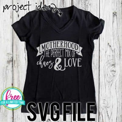 Download Free SVG Cut File - Motherhood the Perfect Mix of Chaos ...