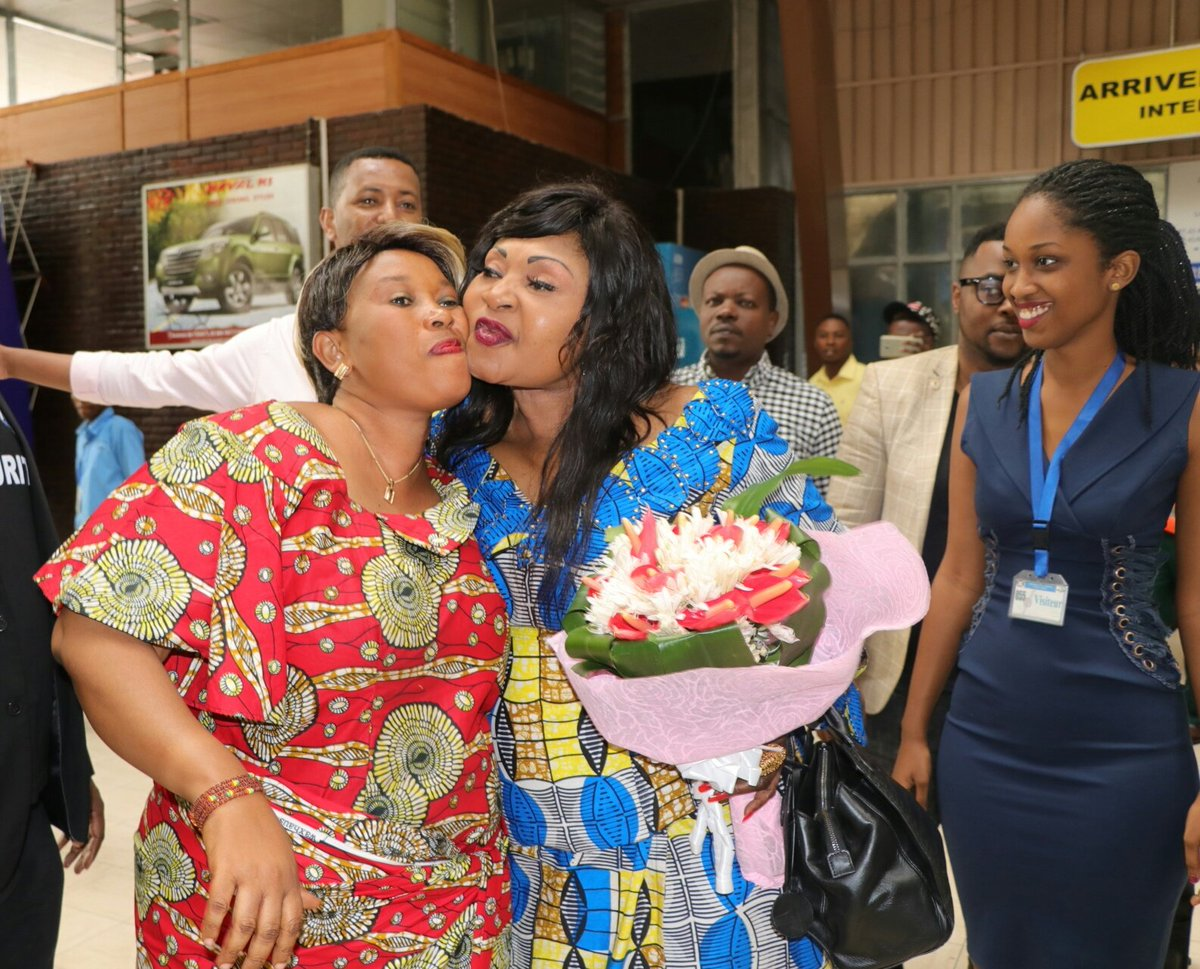 Burundi : MBILIA Bel est arrivée à l'aéroport de Bujumbura ( Photo : INGOMAG 2019 )