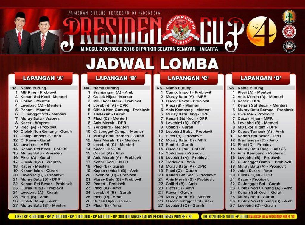 Jadwal Presiden Cup 4 (mediabnr.com)