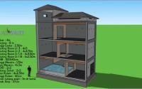 Desain rumah Walet 3 lantai model zigzag (youtube.com)