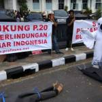 Aksi Demo Profauna di Balai Kota Malang (radarmalang.id)