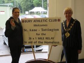 Bury AC Host Marathon Relay for Barnabus