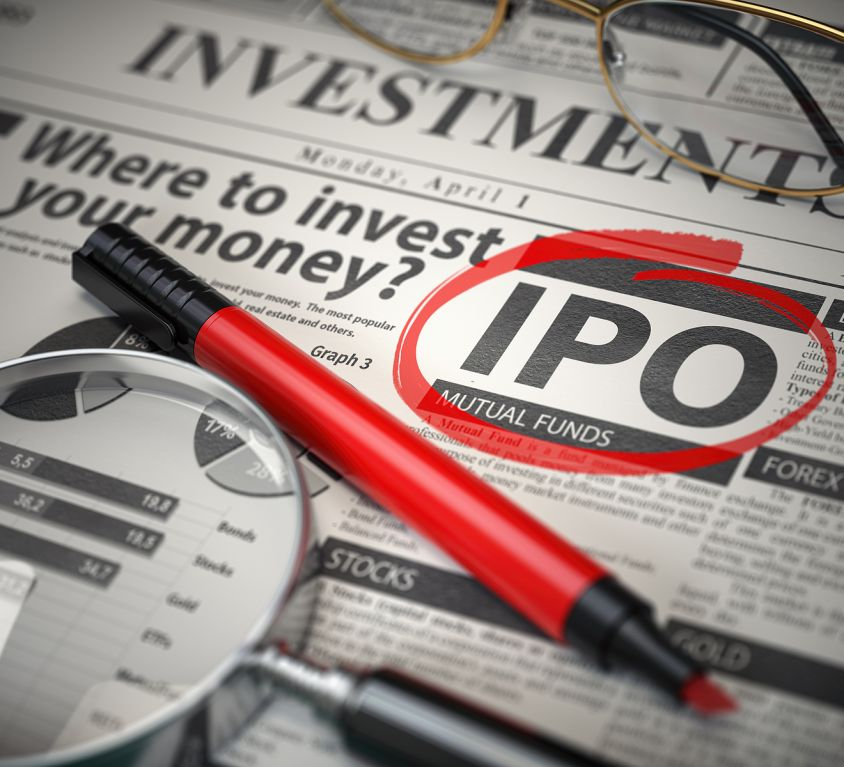 IPO Initial public offering concept. Where to Invest concept, In