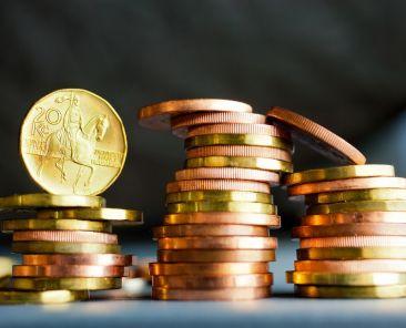 České mince / Czech coins, Image: 354802385, License: Rights-managed, Restrictions: , Model Release: no, Credit line: Profimedia, Michaela Dusíková - ČIF